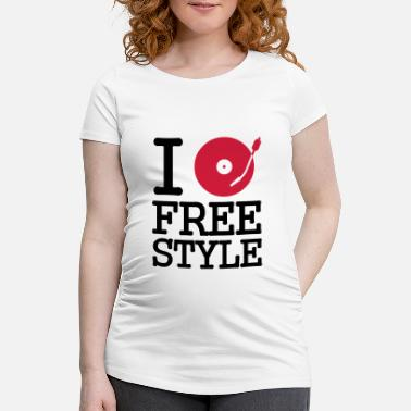 Disque i dj / play / listen to freestyle - T-shirt de grossesse