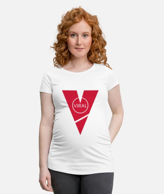 Song T-Shirts - Viral Team - Maternity T-Shirt white