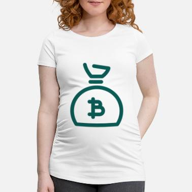 Okkupere Wall Street Bitcoin Money Bag - T-skjorte for gravide kvinner