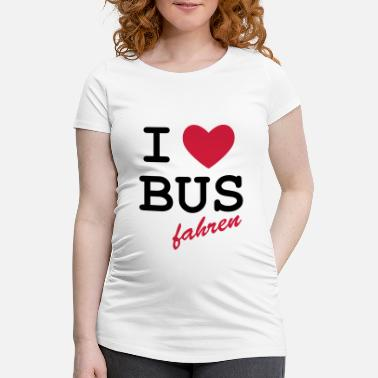 Loret I Love bus travel - Maternity T-Shirt