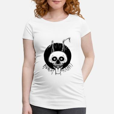 Fakeface Hungry Rabbit - Maternity T-Shirt