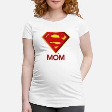 Superman 'Super MOM' Women T-Shirt - Gravid-T-shirt dam