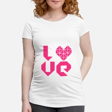 I Love Party I LOVE - Zwangerschaps T-shirt