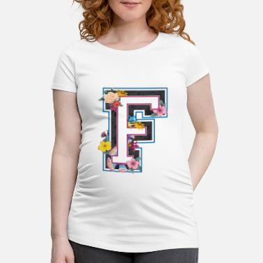 Capital Letter F in varsity style - Maternity T-Shirt