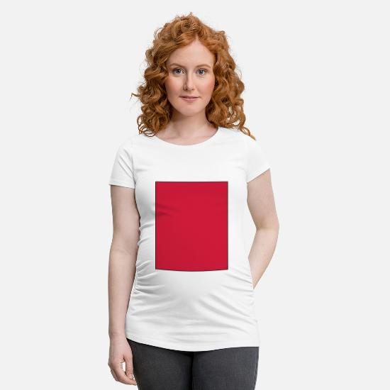 Red T-Shirts - Red Rectangle - Maternity T-Shirt white