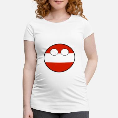 Countryballs Countryball Country Home Austria - Women's Pregnancy T-Shirt