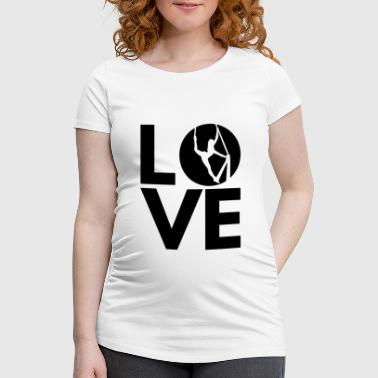 Love Silks, black - Women's Pregnancy T-Shirt