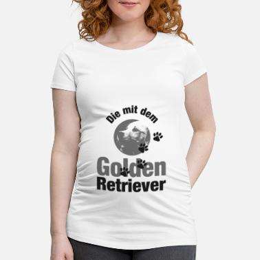 Pawprint THE WITH THE GOLDEN RETRIEVER - pawprint dog - Maternity T-Shirt