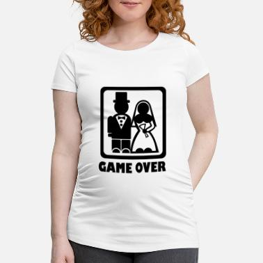 Game Over Game over - Schwangerschafts-T-Shirt