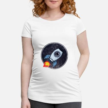 Space Ship Rocket Ship Spacecraft Space Gift Idea - Maternity T-Shirt