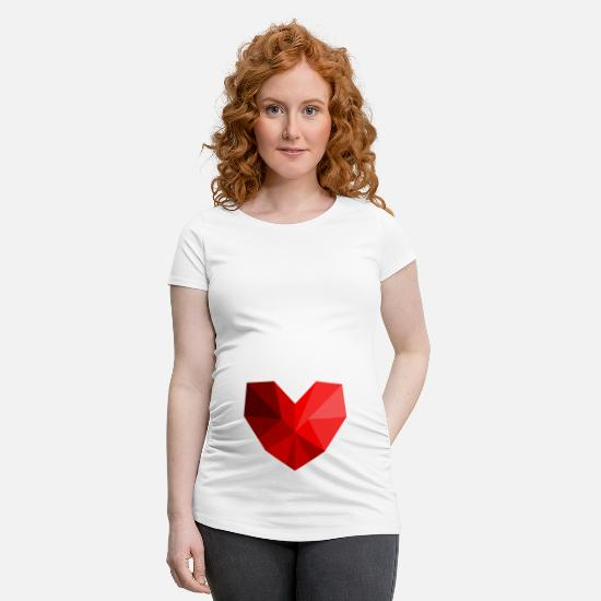 Love T-Shirts - Heart polygon - Maternity T-Shirt white