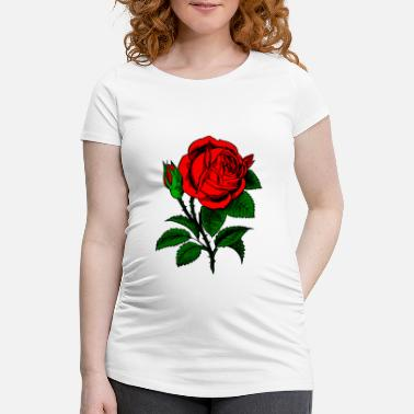 Rose Red rose - Maternity T-Shirt
