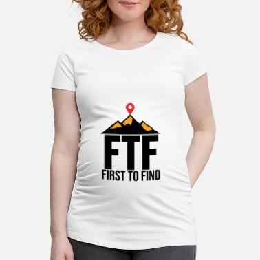 First To Find Geocaching Shirt Geocacher Gps Geocache Geschenk - Schwangerschafts-T-Shirt