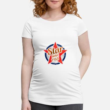 Born 1955 Gift for Stars born in 1955 - Maternity T-Shirt