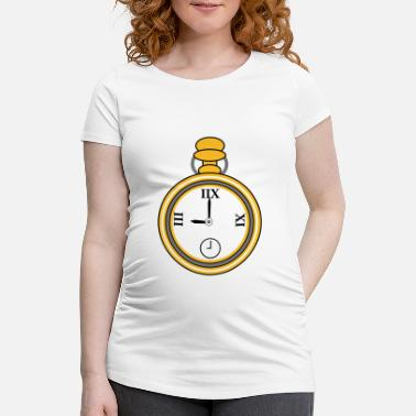 Clock clock - Maternity T-Shirt