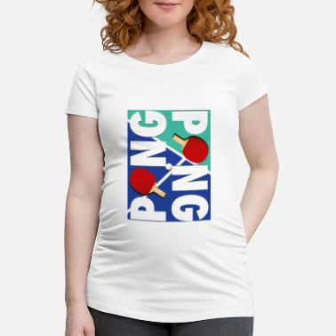 Sports Ping Pong sports racket design - Maternity T-Shirt