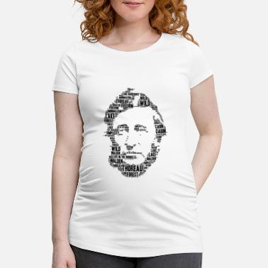 Henry David Thoreau thoreau stencil word cloud - Women's Pregnancy T-Shirt