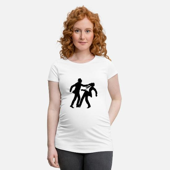 Gang T-shirts - gangster - T-shirt de grossesse blanc