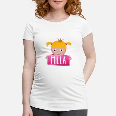 Milla Little princess Milla - Women's Pregnancy T-Shirt
