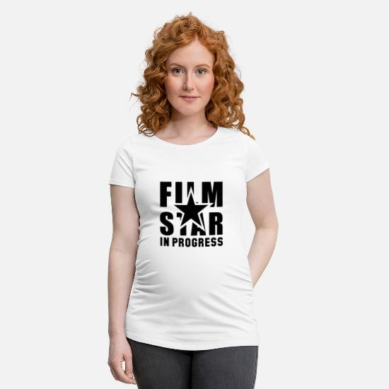 Star T-shirts - FILM STAR PÅGÅR - Gravid T-shirt vit