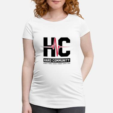 Community HARD COMMUNITY - T-shirt de grossesse