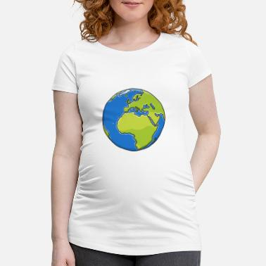 Planet planet Earth - Maternity T-Shirt