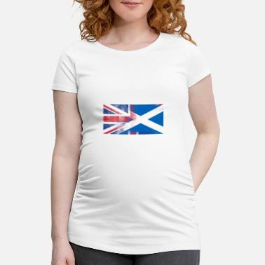 Half Scottish British Scottish Half Scotland Half UK Flag - Women's Pregnancy T-Shirt
