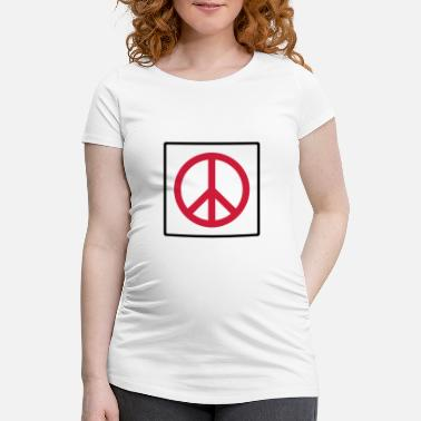 Quadrat Frieden im Quadrat / peace in square (2c) - Maternity T-Shirt