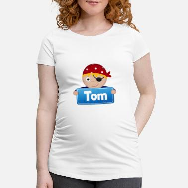 Tom Boy Little Pirate Tom - Women's Pregnancy T-Shirt