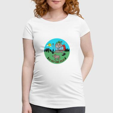 Cheslo: Go Out and Play - Women's Pregnancy T-Shirt