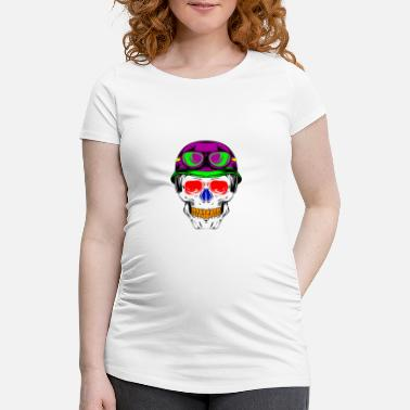 Funky Skull FUNKY TOTAL HEAD - Women's Pregnancy T-Shirt