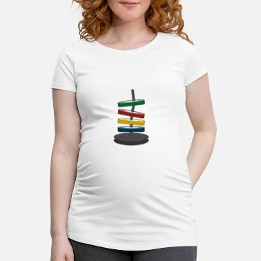 Coloured disks - Maternity T-Shirt