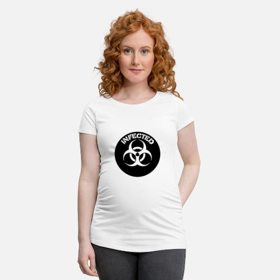 Influenza T-Shirts - Biohazard - Maternity T-Shirt white