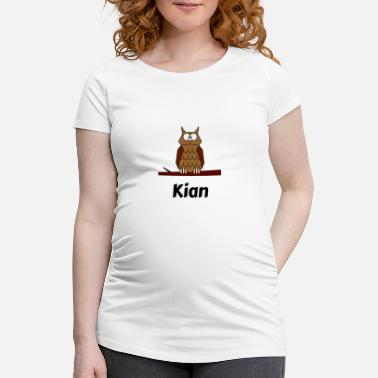 Kian Kids School Born Owl Motif Kian - Maternity T-Shirt