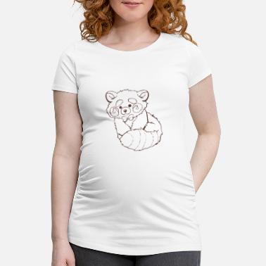 Black And White Panda Red panda black and white - Women's Pregnancy T-Shirt