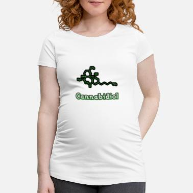 Cannabidiol cannabis gift - Maternity T-Shirt