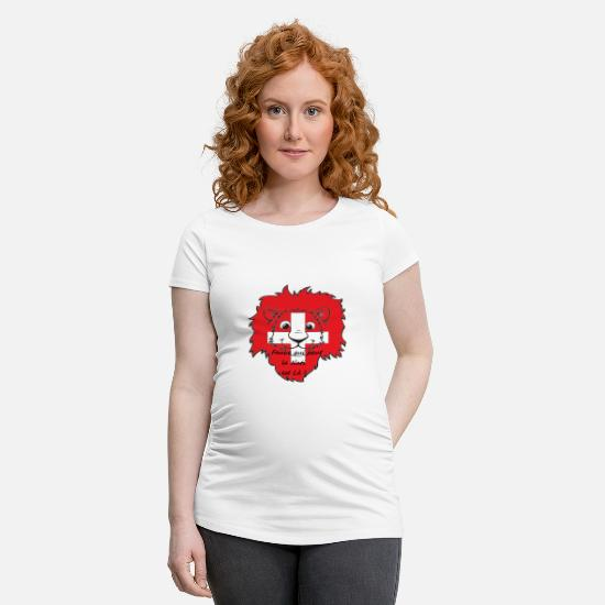 Suisse T-shirts - Lion supporter Suisse - T-shirt de grossesse blanc
