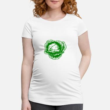Cabbage green cabbage vegetables - Women's Pregnancy T-Shirt