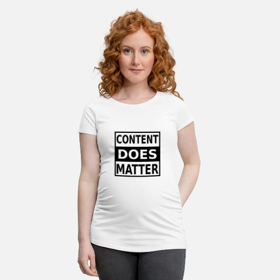 Marketing T-shirts - Content Marketing Internet Online Données numériques - T-shirt de grossesse blanc