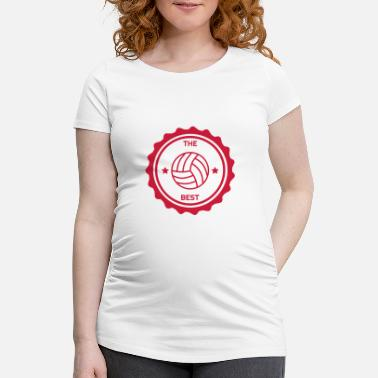 Volley Volleyball - Volley Ball - Volley-Ball - Sport - Schwangerschafts-T-Shirt