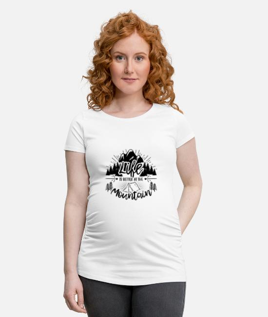 Turn Table T-Shirts - Life is better - Maternity T-Shirt white