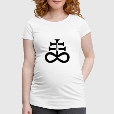 Satan Cross satanic cross - Women's Pregnancy T-Shirt