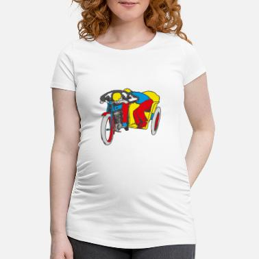 Pop Up POP UP SIDE CAR - Women's Pregnancy T-Shirt