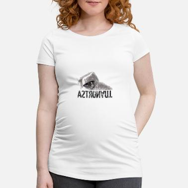 Black White Galaxey Astronaut black white - Maternity T-Shirt