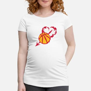 Persia basketball heart love persia fleche - Maternity T-Shirt