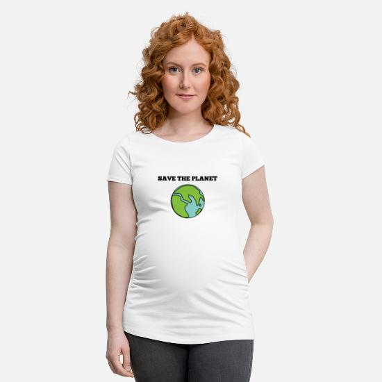 Gift Idea T-Shirts - save the planet - Maternity T-Shirt white