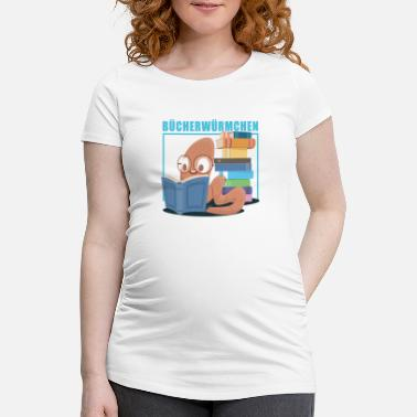 Book Books Read Reader Bookworm - Women's Pregnancy T-Shirt