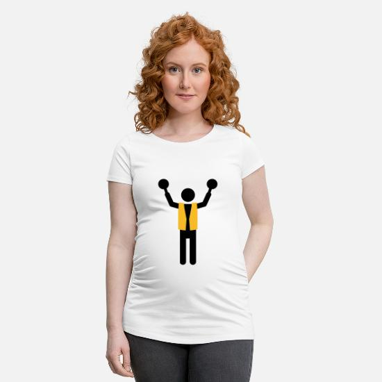 Flight T-Shirts - flight controller - Maternity T-Shirt white