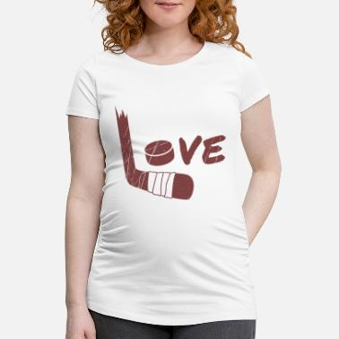 Hockey Stick Hockey Sticks - Maternity T-Shirt