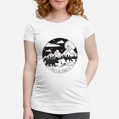 Planet Protection de l'environnement Vintage No Planet B - T-shirt de grossesse